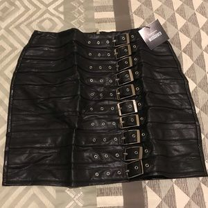 Not your average Black leather skirt